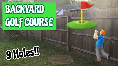 how to design your own backyard 9 hole backyard mini golf course diy how to make your own youtube gogo papa