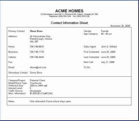 m e report template h o m e s contact management system sle report