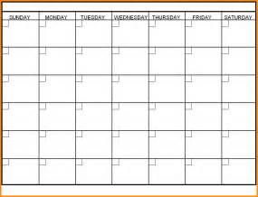 empty calendar template 7 monthly calendar template workout spreadsheet
