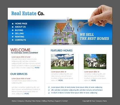 Free Website Templates With Realestate Theme 1 Real Estate Website Templates Best Real Estate Templates