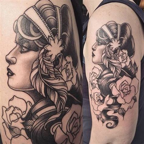 black and grey gypsy tattoo image result for neo traditional black and grey gypsy