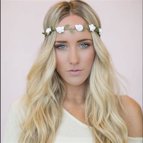 73 accessories flower headband white floral crown boho coachella from s closet on