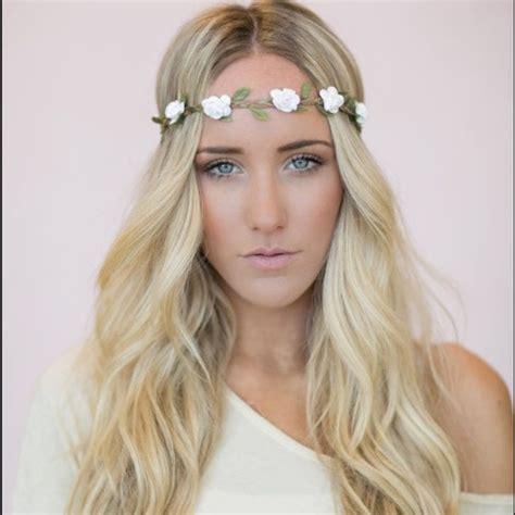 2015 wearing headband flower headband in white 73 accessories flower headband white floral crown