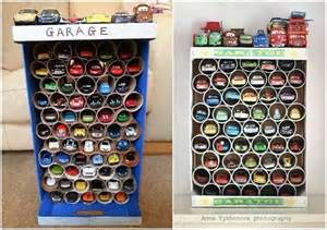 Make This Awesome Toy Car Garage with TP Rolls for Your