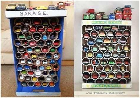 garage toy storage make this awesome toy car garage with tp rolls for your