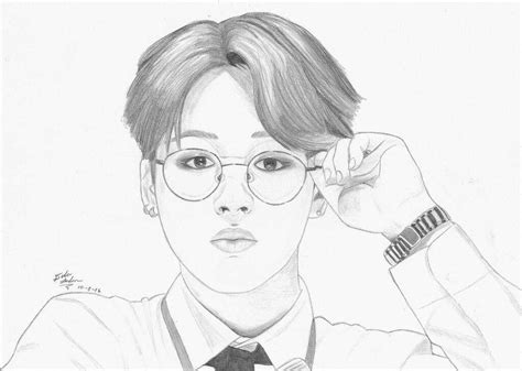 V Drawing Jimin by Bts Park Jimin Fanart K Pop Amino