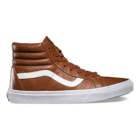Sepatu Vans Sk8 Hi Premium premium leather sk8 hi reissue vans ca store