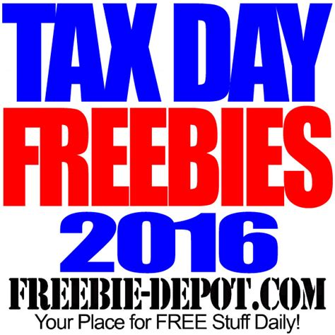 Free Tax Day Giveaways - image gallery april 18 2016