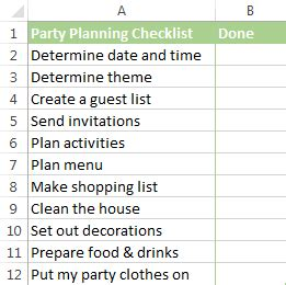 How To Insert A Checkbox In Excel Create An Interactive Checklist To Do List And Report Interactive To Do List Template