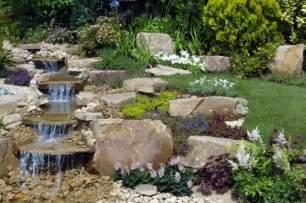 backyard water waterfalls as landscape garden design elements wycepypa