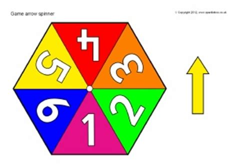 printable spinner with numbers 1 10 printable esl eal activities and games templates and