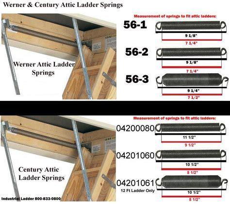 Attic Door Springs attic ladder replacement springs pair