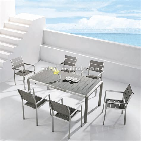 Anodized Aluminum Frame Ourdoor Furniture Cheap Modern Cheap Modern Dining Table
