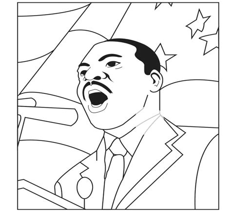 martin luther king i have a dream coloring sheet