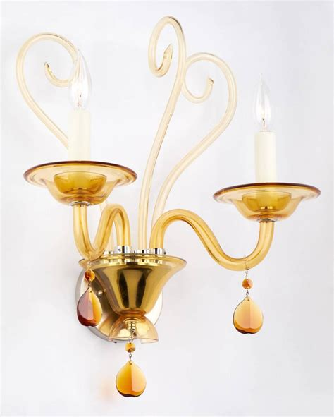 Sconce Glass murano glass wall sconce for sale at 1stdibs