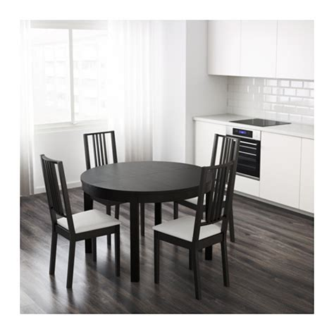 ikea black brown dining table bjursta extendable table brown black 115 166 cm ikea