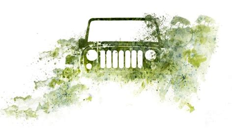 jeep wrangler watercolor photo jeep by