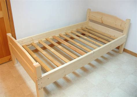 2x4 Bed Frame Plans Building A Bed