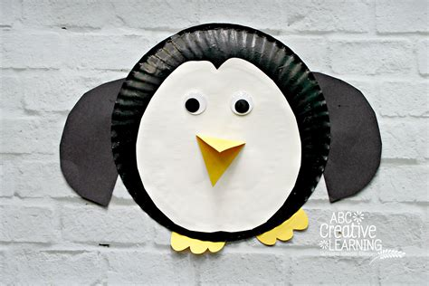 Penguin Paper Plate Craft - paper plate penguin craft