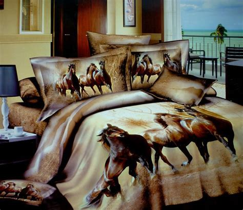 horse themed bedroom for the feminine 7 10 year old crowd 3d horse design patterns print bedding sets queen size