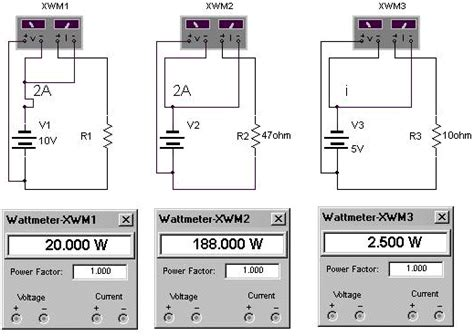 how to measure resistance with multisim chet floyd principles 7 energy and power ewb electronics workbench circuit simulation