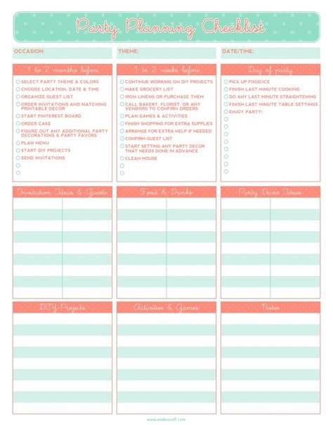 free printable party planning list ruff draft free printable party planning checklist