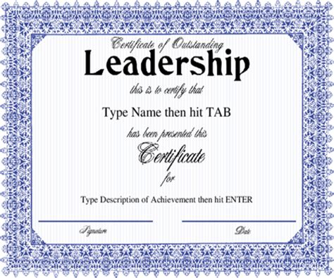 leadership certificate template 8 free word pdf psd