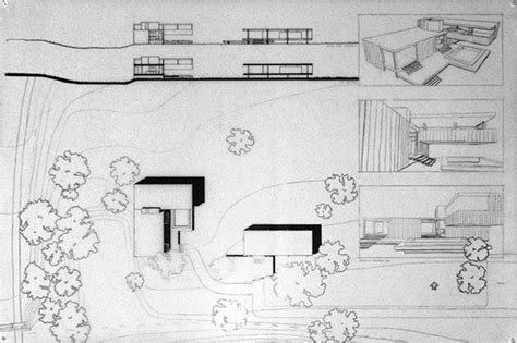 site plan for house farnsworth house addition on behance