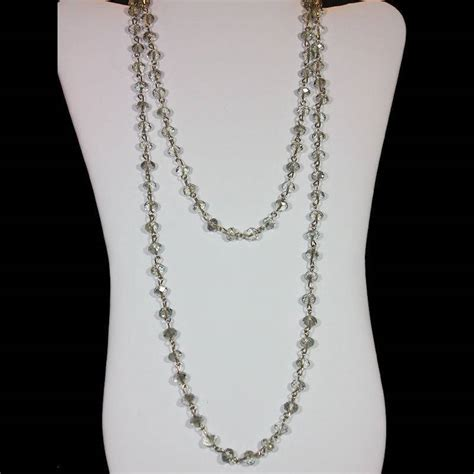 necklace clear beaded
