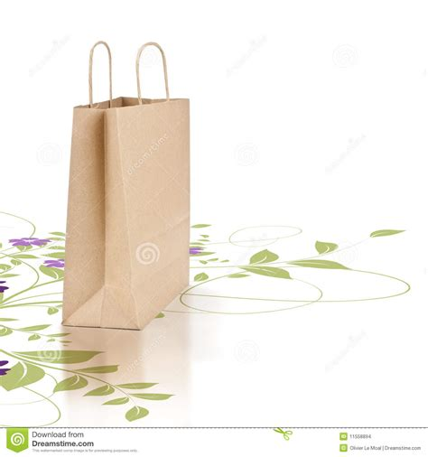 How To Make Eco Friendly Paper Bags - green and eco friendly paper shopping bag stock images
