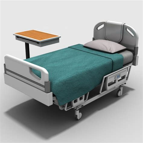 hospital bed tables hospital bed table 3d model