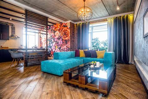 pop interior design mixed style interior loft pop eco style