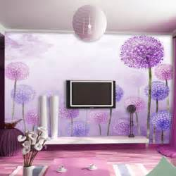 free shipping dolly mural living room wallpaper purple tv
