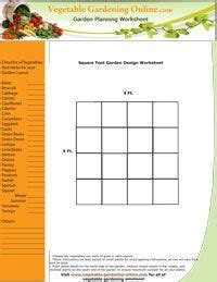 printable vegetable planner 1000 images about garden square foot garden on pinterest