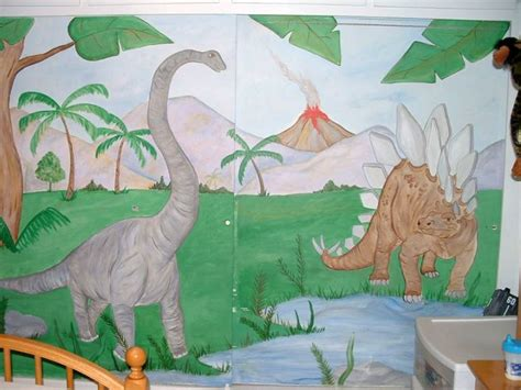 dinosaur wall mural 17 awesome dinosaur wallpaper mural designs