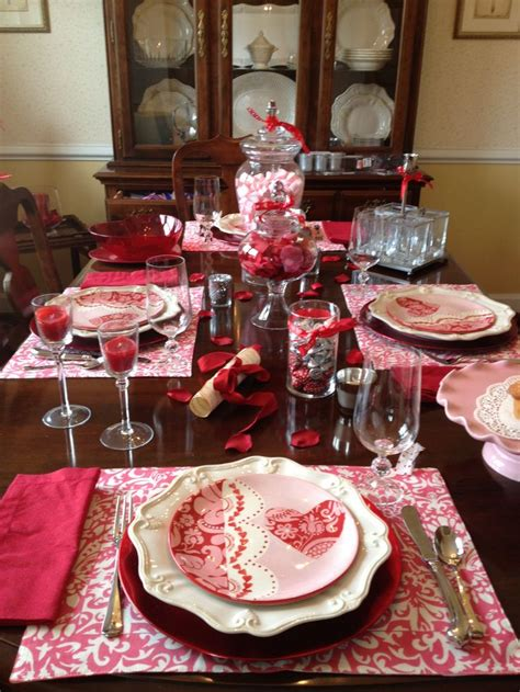 valentines day table valentine s day table setting table settings pinterest