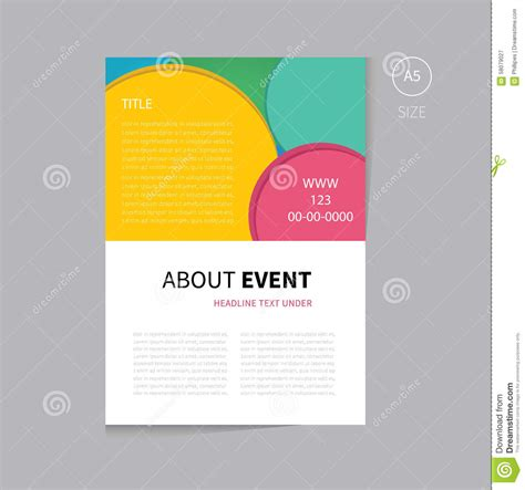 vector event brochure template design stock vector image