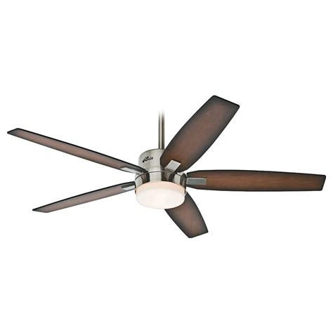 Hunter Fan Company Windemere Brushed Nickel Ceiling Fan Nickel Ceiling Fans With Lights