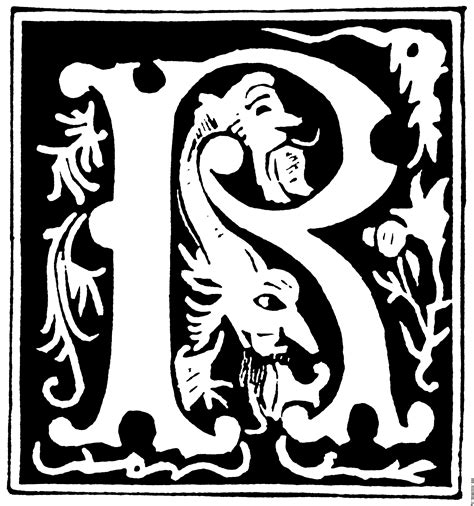 Decorative Alphabets And Initials by Decorative Initial Letter R From 16th Century