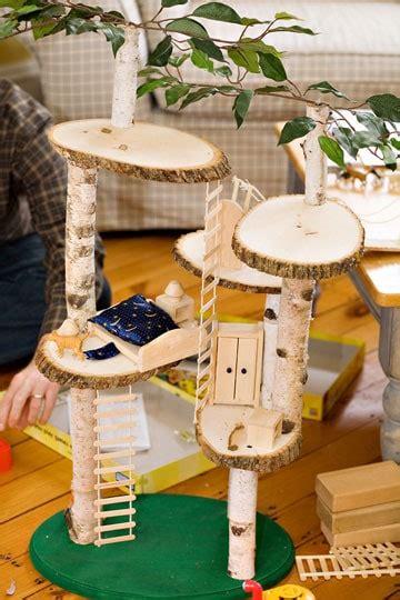 build  mini indoor play treehouse