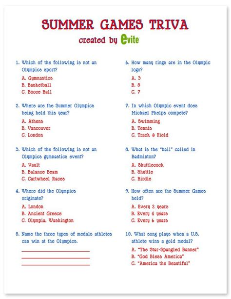 printable quiz for the elderly olympic printables trivia olympics and gaming