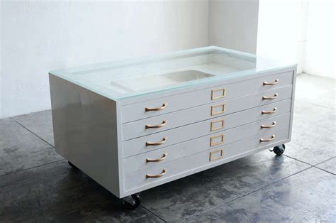 metal file cabinet coffee table flat file cabinet coffee table in high gloss white with