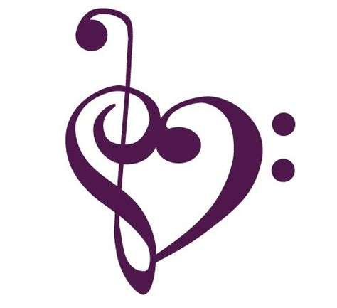 treble clef heart tattoo designs bass clef treble clef clipart best