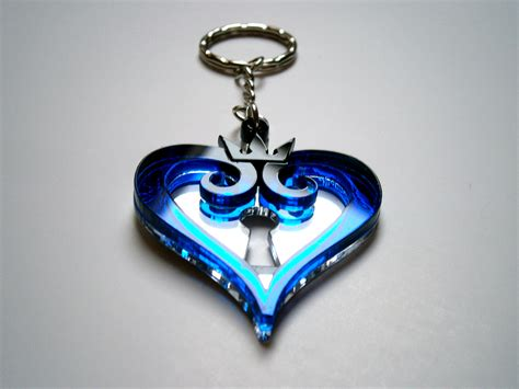 Glass Chain Chandelier Kingdom Hearts Keychain Lasercut Blue Acrylic Keychain