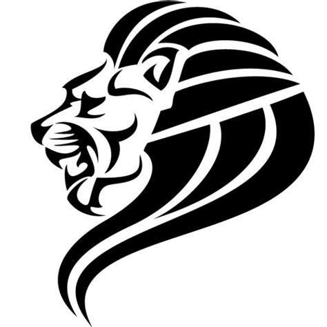 imagenes de leones blanco y negro imagen vectorial cabeza de le 243 n negro descargar vectores