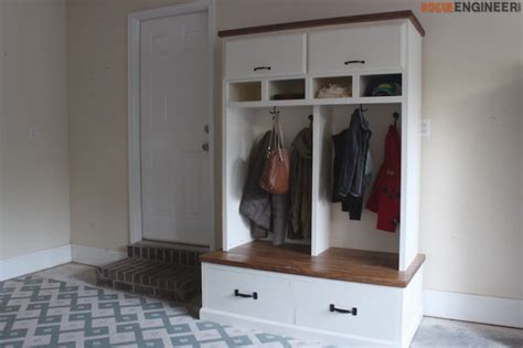 mudroom ideas diy mudroom lockers with bench free diy plans