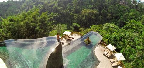 hanging infinity pools in bali fascinating bali the world famous hanging gardens