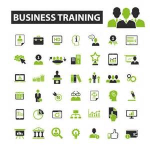 business icons black with green vector 10 business icons