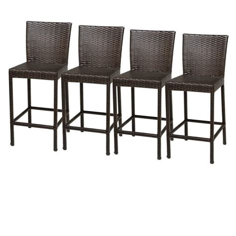 Tropical Dining Room Furniture by Tkc Napa Outdoor Wicker Bar Stools In Espresso Set Of 4