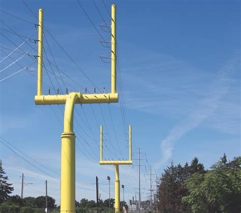 valmont power engineers design goal post transmission
